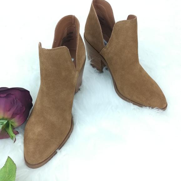 fa5554d1719 Steve Madden Aker Suede Cognac Sue Brown Boots 9.5